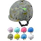 Casco Bicicleta Bebe Helmet Bici Ciclismo para Niño - Cascos para Infantil Bici Helmet para Patinete Ciclismo Montaña BMX Carretera Skate Patines monopatines (S 48-52 cm, Dinosaurs)