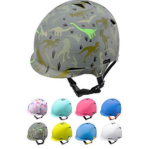 Casco Bicicleta Bebe Helmet Bici Ciclismo para Niño - Cascos para Infantil Bici Helmet para Patinete Ciclismo Montaña BMX Carretera Skate Patines monopatines (M 52-56 cm, Dinosaurs)