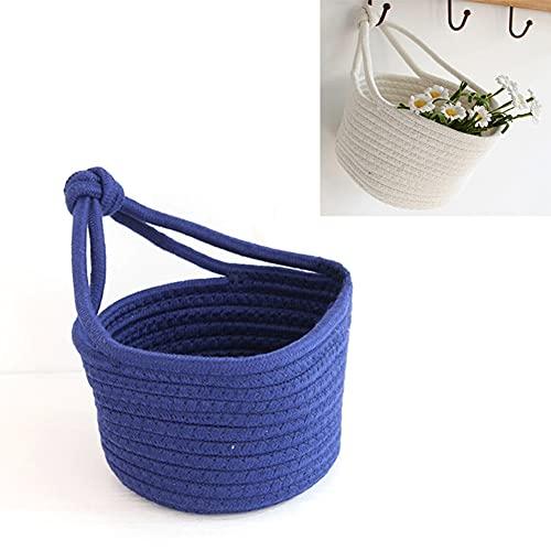 FAFAD - Cestini da appendere in corda di cotone, con cordino per fiori, giocattoli