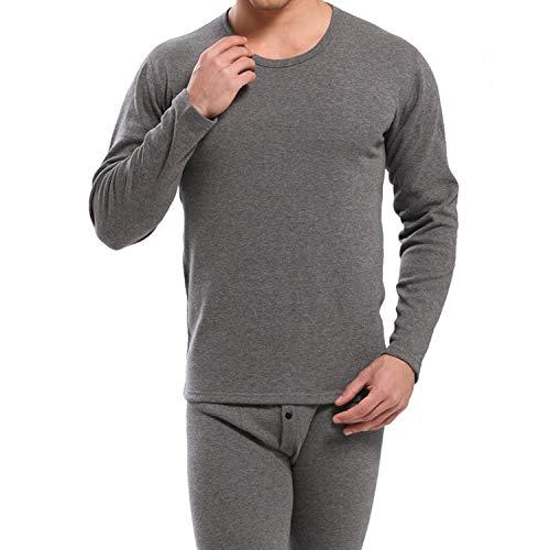 Jen-Jen Men Thermisch Ondergoed Herfst Winter Ondergoed Man Ondergoed Shirt+Broek Sets
