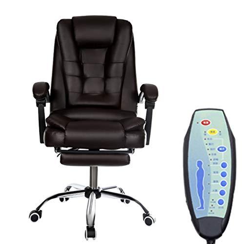XIALIUXIA PU Bürostuhl Mit Massagefunktion, Heizung 7-Punkt-Massagesessel Relax Sessel Drehstuhl, Computerstuhl Hochklappbaren Gepolsterten Armlehnen,A,Aluminum Alloy feet