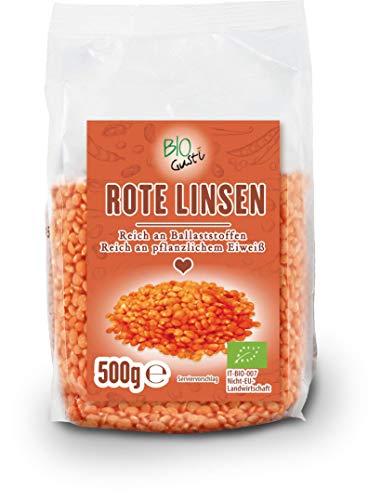 Biogustí Bio rote Linsen, 500 g