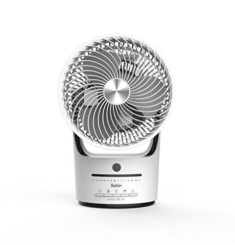 Fakir Tischventilator prestige | TVC 360, 3 Geschwindigkeitsstufen, 360 Grad Ventilation, weiß/schwarz