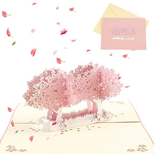 Sethexy 3D día de San Valentín Acción de gracias Tarjetas de felicitación Invitación de boda Surgir Cerezo Confesión Aniversario Cumpleaños Regalo para novia Novio Esposa Marido Amigos Familia
