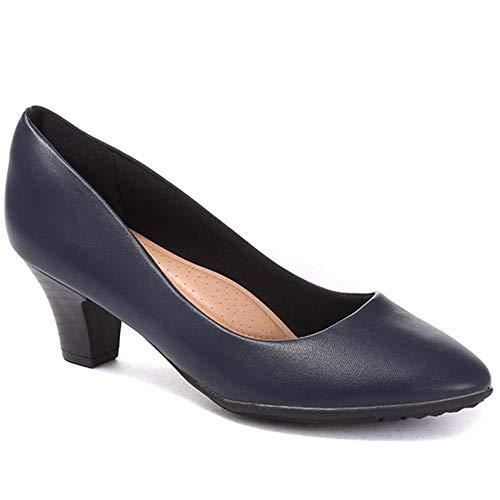 Pavers Mujer Zapatos De Salón De Tacón Azul Marino 36 EU