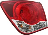 JP Auto Outer Tail Light Compatible With Chevrolet Chevy Cruze 2011 2012 2013 2014 2015 2016 Driver Left Side Taillamp