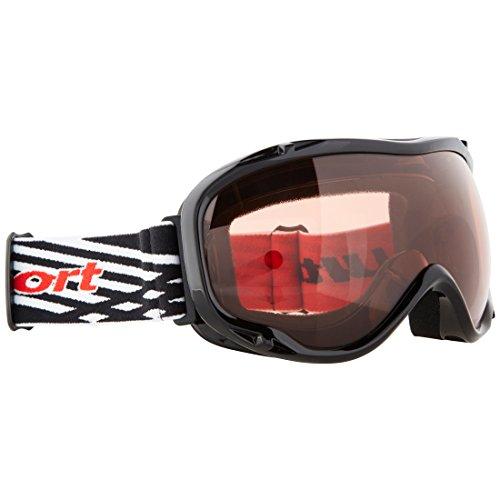 Ultrasport Skibrille / Snowboardbrille mit Antibeschlag-Scheibe, schwarz/pink