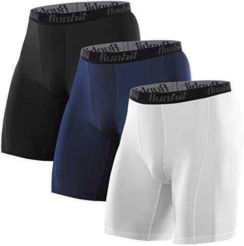 Runhit 3 Pack Compression Shorts for Men Mens Underwear Spandex Shorts Sports Running Short product image