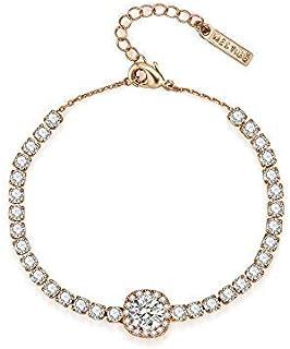 Mestige Rose Gold Lilah Bracelet with Swarovski Crystals