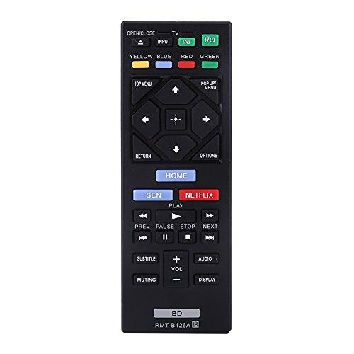 FAMKIT - Telecomando universale di ricambio per lettore DVD Sony Blue Ray RMT-B126A, Blu-ray BDP-S1700 BDP-S6700 BDP-S3700 BDP-BX370 sostituzione per RMT-B126A …