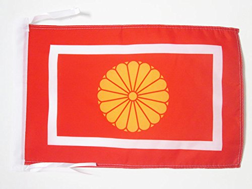 AZ FLAG Bandera de JAPÓN PRÍNCIPE HEREDERO KOTAISHI 45x30cm - BANDERINA Japonesa DE Guerra 30 x 45 cm cordeles