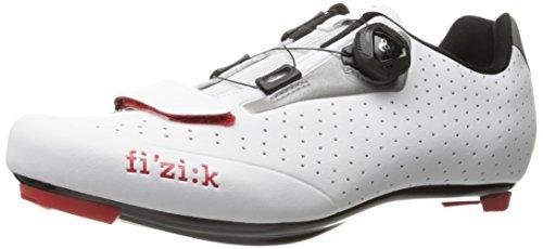 Fizik R5 UOMO Boa - Zapatillas de Ciclismo de Carretera, Color Blanco/Gris...