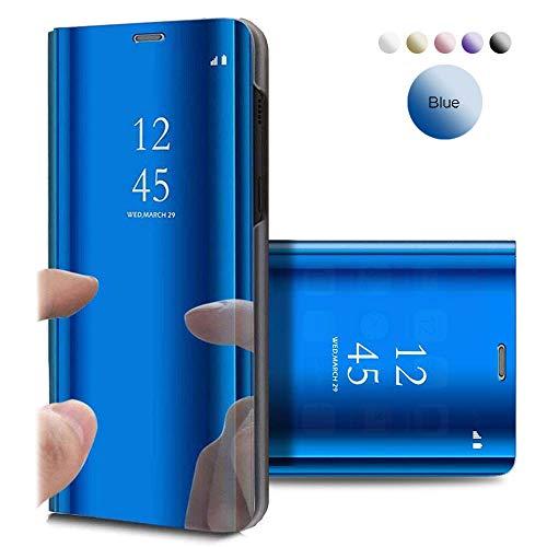 Funda Samsung Galaxy Note 4, Flip Tapa Libro Carcasa - Modelo TPU+PC Espejo Brillante tirón del Duro Case, Espejo Soporte Plegable en Reflectante para Samsung Galaxy Note 4