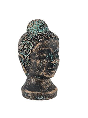Crispe home & garden Orientalische Figur aus Polyresin (Kunstharz) wetterbeständig Derdutt - im Kupfer-Look mit Patina - Höhe 10,5 cm - Breite 5,5 cm - Tiefe 6 cm