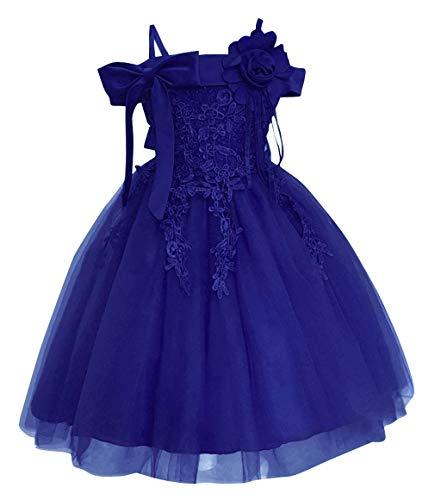 DEMU baby meisjesjurk doopjurk feestelijke jurk bruiloft partyjurk feestjurk 150 blauw