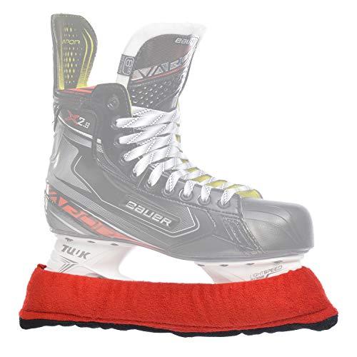 SHERWOOD Frottee - Kufenstrumpf für Eishockey- & Schlittschuhe mit verstärkter Laufschiene, 2 Stück