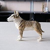 装飾品屋外彫像像装飾品彫刻シミュレーションブルテリア犬モデルカークラフト装飾彫刻ギフトコレクション立っている