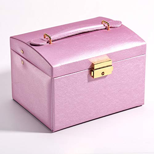 Caja de joyería portátil Pendientes Anillo Accesorios Escritorio Acabado Caja de Almacenamiento - Púrpura, A