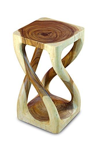 Kinaree Holz Beistelltisch BUENG - Suar Massivholz Nachttisch oder Blumenhocker aus Massivholz