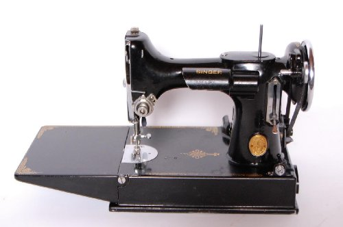 Singer Featherweight 221-1 Antique Sewing Machine Scroll Face, Working c. 1940