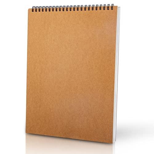 SISYS Zeichenblock A4 Skizzenbuch, Sketchbook für Kinder Erwachsene, Ringbuch a4 Zeichenbuch mit Spiralbindung, Säurefreies Zeichenpapier 160gsm Skizzenblock 30 Blatt