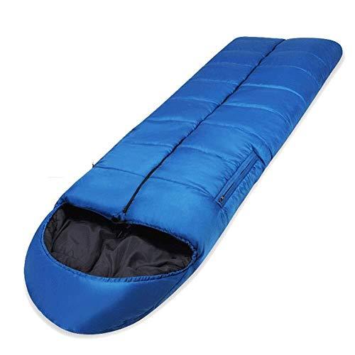 Sac de couchage Durables, Sacs, Automne épais d'hiver Robe Portable enveloppe Adulte Camping en Plein air, Bleu, 1,8 kg, Taille Nom: 1,3 kg, nom de la Couleur: Bleu