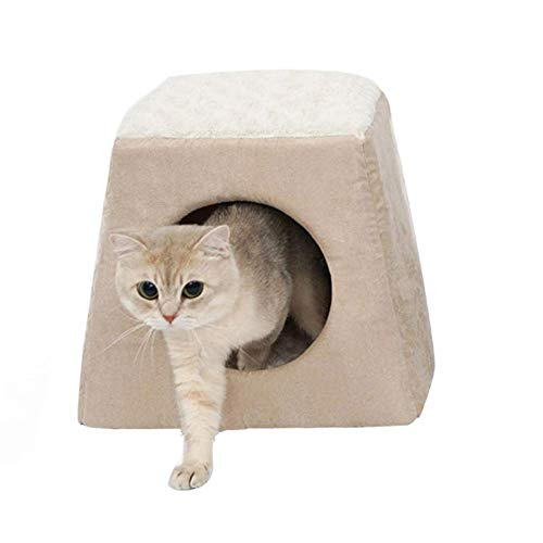 FANQIECHAODAN Best Pet Supplies Cave/Tent Bed for Pets Four Seasons are Available,It is A Tent Nest,and It is A Cushion Nest (Color : White)