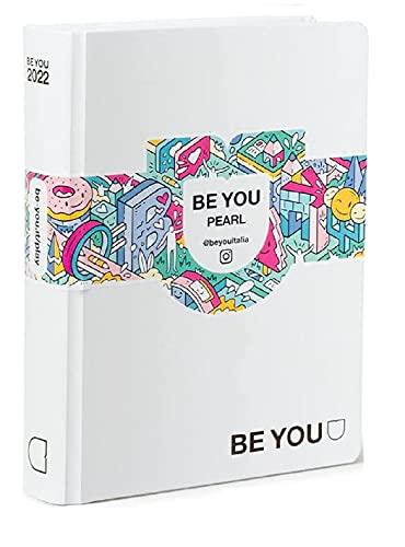 Diario Agenda Scuola Be You Original Bianco Pearl 2020/2021 12 Mesi Pocket 16x12 cm + Penna Colorata Omaggio