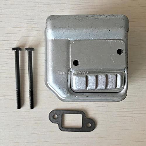 Junta de silenciador de silenciador de escape con kit de pernos para FIT para STIHL 017018 MS170 MS180 Motosierras Piezas de motor 100% Nuevo