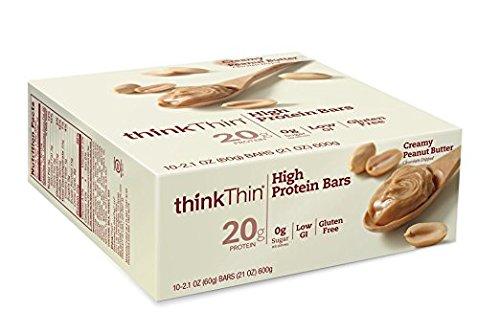 thinkThin Protein Bars Creamy Peanut Butter - 2.1 oz - 10 ct