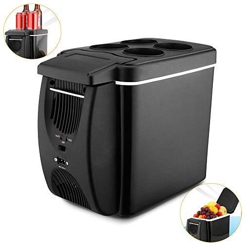 Pang Hu 6L Mini Kühlschränke / 2 in 1 Kühlraum-Kühlraum/Heizung / 12V / beweglicher elektrischer Kühlraum der Reise/Kasten-Gefriermaschine mit 4 Löchern stützen