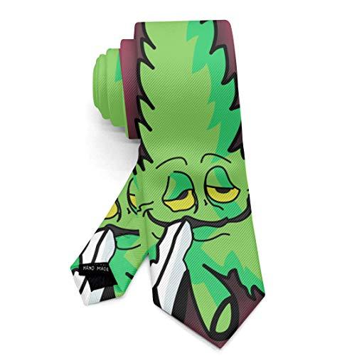 Men's Necktie Ties, Paisley Necktie, Fashion Skinny Necktie, Casual & Formal Ties for Wedding, Business, party, Novelty Regular Ties, 80 Coke Bottle Glasses Marihuan Leaf Ties Necktie