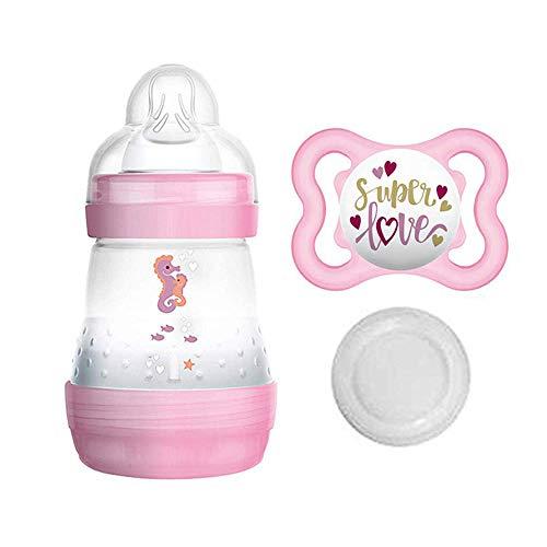 MAM, starter set bambina, biberon anti-coliche da 160 ml, incl. tettarella misura 1 a partire dalla nascita, incl. ciuccio MAM in silicone, 0-6