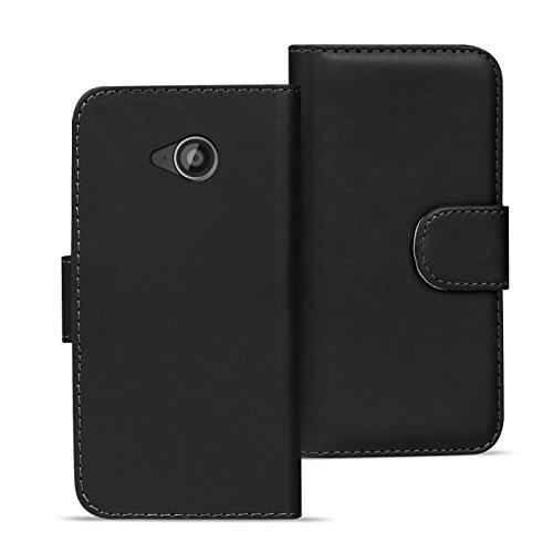 Verco Moto G2 Hülle, Handyhülle für Motorola Moto G 2 Gen. Tasche PU Leder Flip Case Brieftasche - Schwarz