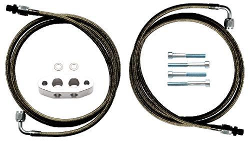 Dirty Dingo LS Billet Twin Turbo Oil Feed Complete Kit, Supercharger, LS1 Gen 3, Gen 4