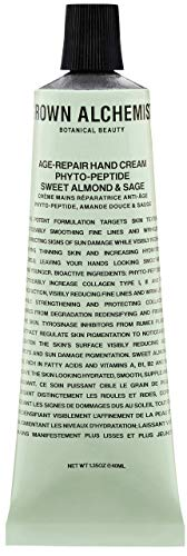 Grown Alchemist Age-Repair Hand Cream - Phyto-Peptide, Sweet Almond & Sage - Made with Organic Ingredients (40ml / 1.35oz)