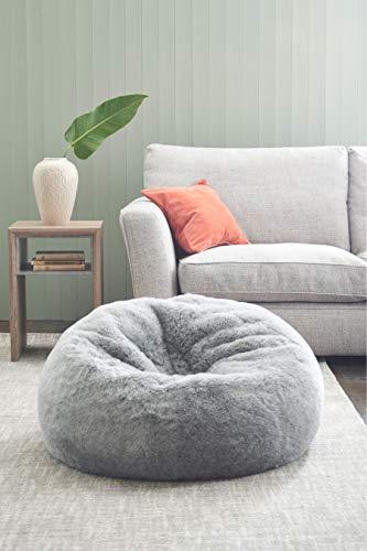 Mollismoons Bean Bag Fur Sofa Without Beans (XXXL, Grey)