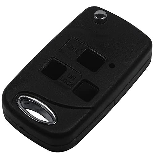 1pc 3 botones Flip plegable de la llave del automóvil remoto Cáscara segura y duradera No es fácil de envejecer para Toyota FJ/Land Cruiser Camry TOY4 Accesorios de coche