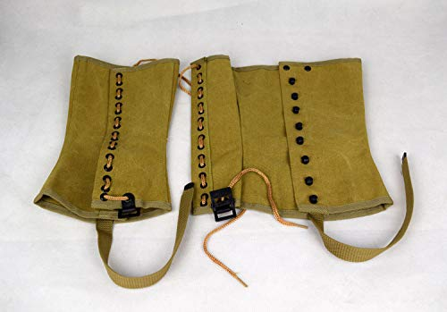 Replica WWII US Army M1938 Canvas Gaiter Leggings Feet Wear US Size (2R)