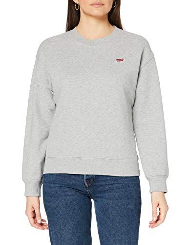 Levi\'s Damen Standard Crew Sweatshirt, Smokestack Heather, Large