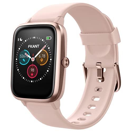 FKANT Smartwatch, Reloj Inteligente para Mujer Hombre GPS 14 Modos Reloj Deportivo con Impermeable 5ATM Pulsera de Actividad Inteligente con Pulsómetros Monitor de Sueño Podómetro para Android iOS
