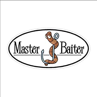 Master Baiter... Funny Fishing Decal Boat Car Truck Sticker (3