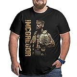Camisetas King Conor Mcgregor Camiseta de Manga Corta de algodón de Gran tamaño para Hombre, Manga Corta para Entrenamiento, Uso Diario 2021