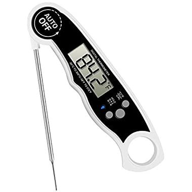 GoldWorld FDA Meat Thermometer- Waterproof Food Thermometer with Stainless Steel Probe for Kitchen Cooking BBQ Grill
