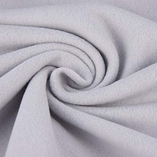 SCHÖNER LEBEN. Baumwollfleece Fleece aus Baumwolle einfarbig hellgrau 1,55m