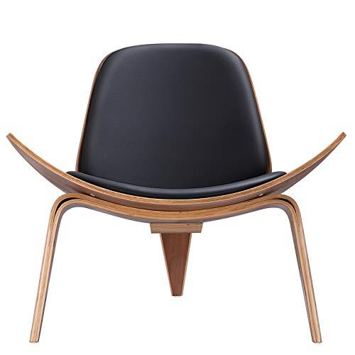 FURGLE Replica Black Palisander Lounge Shell Sillón Nórdico Creativo Diseñador Simple Sofá Silla Silla Silla Avión Silla