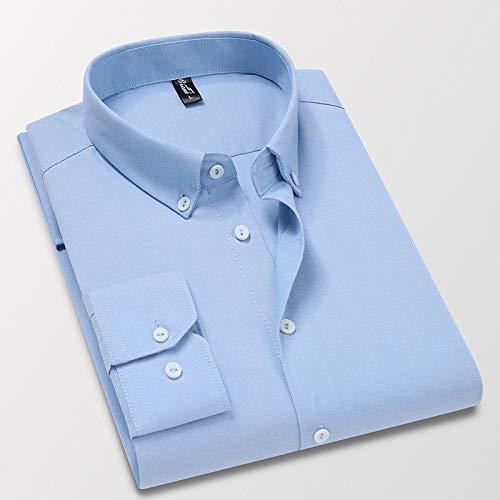 Hemd Hochwertiges Weißes Herrenhemd Mit Langen Ärmeln Aus 100% Baumwolle, Normal Geschnitten, Hellblau, Grau, Smokinghemden 4Xl86Kg-91Kg Hellblau150