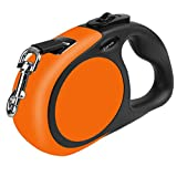 Fairwin Retractable Dog Leash, 15ft Dog Walking Leash with One Button Control and Ergonomic Hand Grip for Medium/Small Dogs (5M / 16foot, Orange)