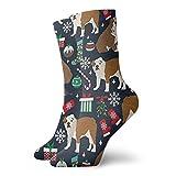 Calcetines unisex de Bulldogs ingleses para vacaciones, transpirables, para correr, senderismo, deportes de fin de semana, calcetines cortos de 30 cm