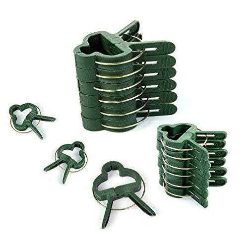 Comius Sharp Pflanzenclips Stabile Clips 100 Stück Clips, für Pflanzen Sicherung Unterstützt Einzupflanzen Tomaten, Rosen, Gurken und andere Rankpflanzen Stabile Klammern.(50 große + 50 kleine)
